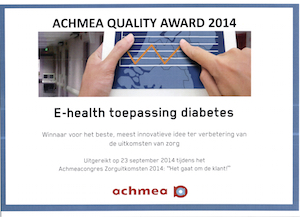 Diabeter, winnaar Achmea Quality Award 2014